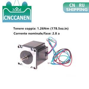 Шаговый двигатель Nema 23 23HS22-2804S 179 унции (2, 5 нм) 1, 8 в а ° 57*57*56 мм для 3D-принтера с ЧПУ