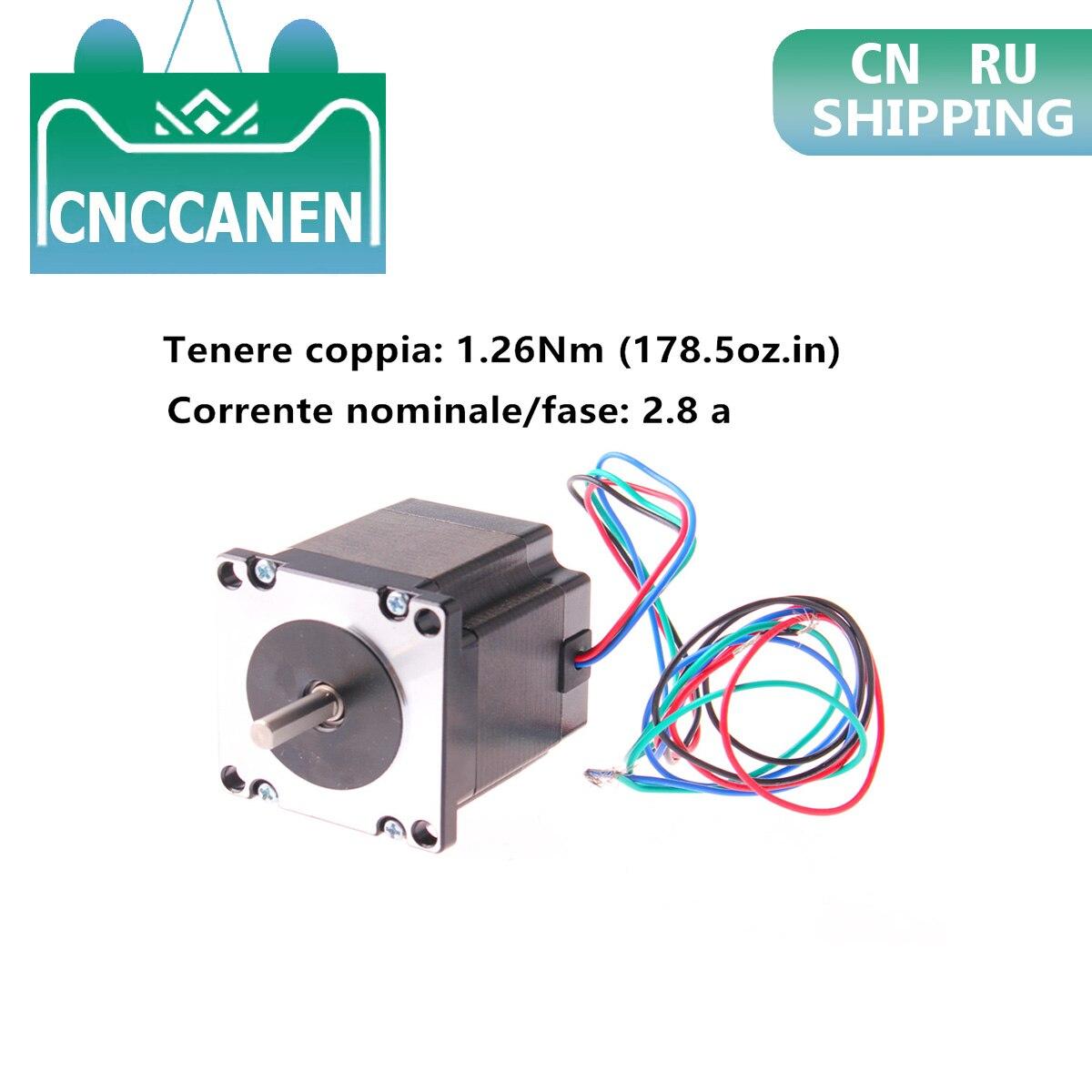 Nema 23 Motor de pasos 23HS22-2804S 179oz en (1.26Nm) 2,5 V 2.8A 1,8 ° 57*57*56mm para CNC 3D impresora