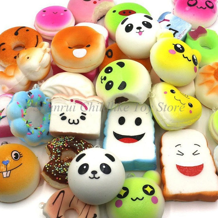Random 10pcs Squishy Ice Cream Scented Slow Rising Kawaii Simulation Lovely Toy Soft Food squishi Ice squishy toy Squishies enlarge