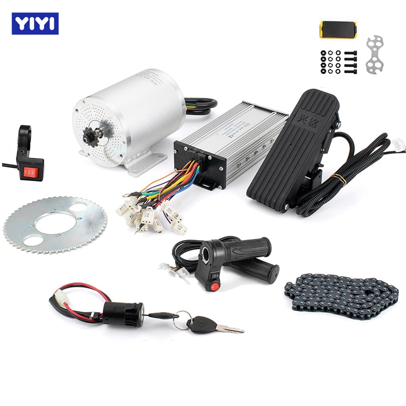 E-bike Conversion Kit 1000w 3000w Electric Motor for Skateboard 45A Go Kart Motor Electric Scooter Kits with Pedal Throttle