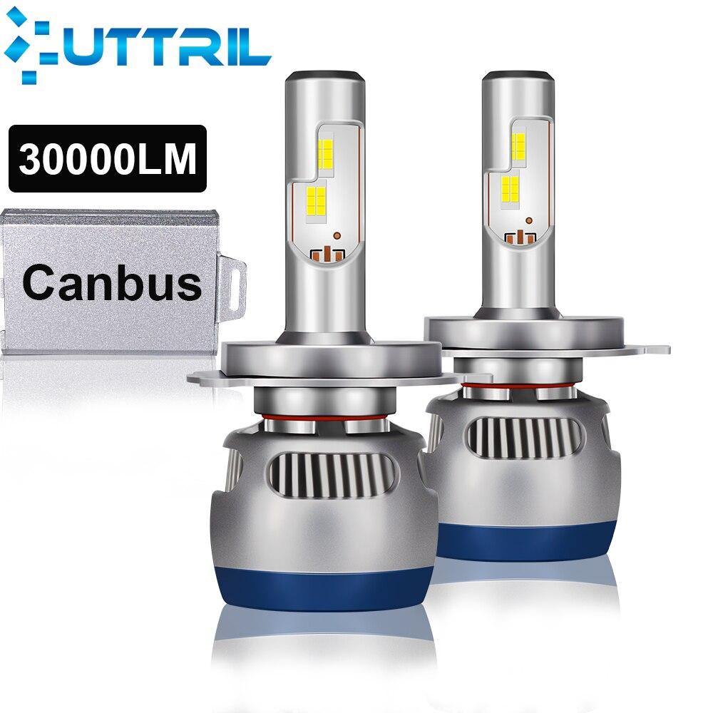 Uttril Canbus LED H4 H7 110W 30000LM Car Headlihgt H1 H8 H9 H11 9005 9006 9012  Car Led Light  Car Led Headlight Bulb 12V 24V