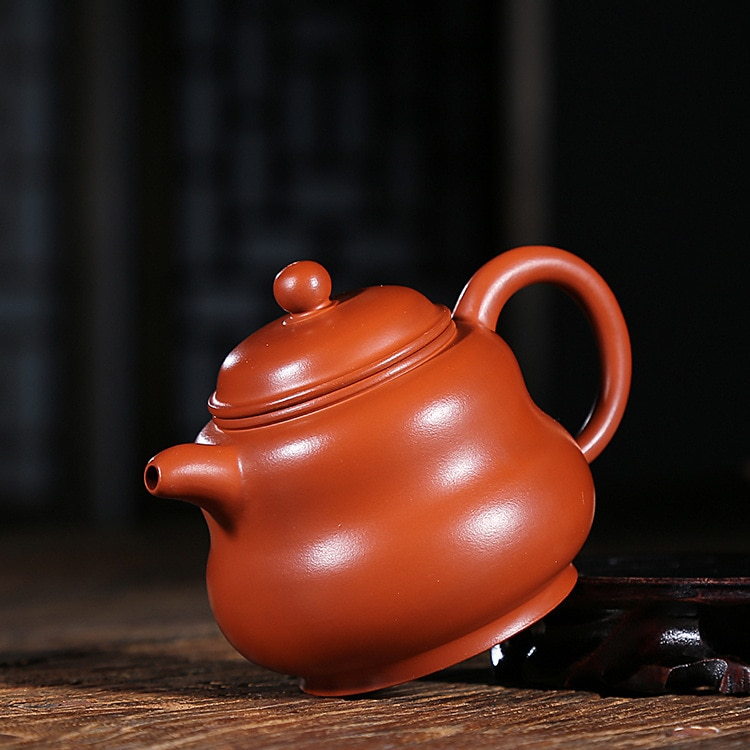 Yixing Raw Ore Dark-red Enameled Pottery Teapot Manual Cinnabar A Bosom Friend Gourd Kettle Kungfu Online Travel Tea Set Gift