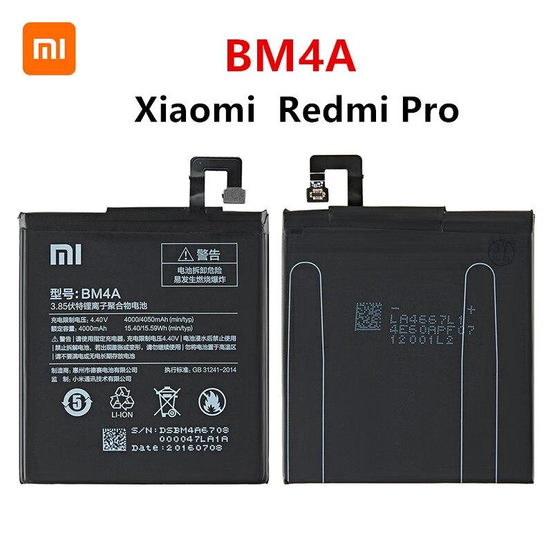 Xiao mi 100% Orginal BM4A 4000mAh Battery For Xiaomi Hongmi Redmi Pro BM4A High Quality Phone Replacement Batteries недорого