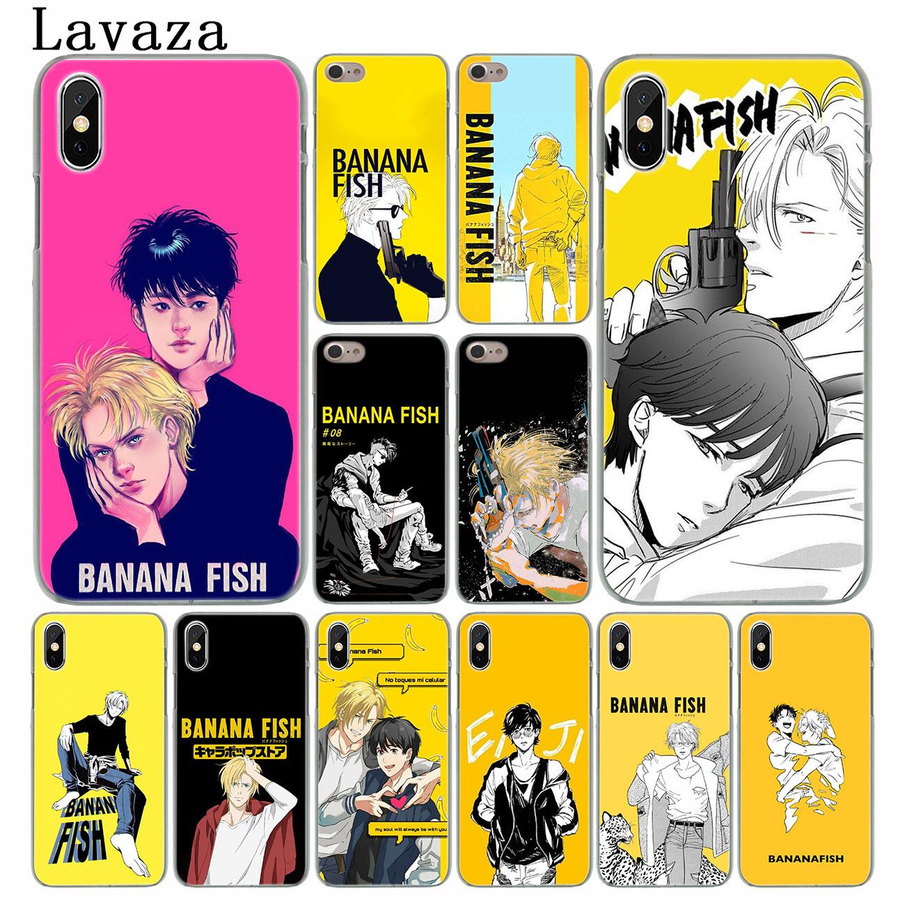 Lavaza Banana pescado Anime teléfono caso duro para el iPhone XR X XS 11 Pro Max 10 7 8 6S 5 5S SE 4S 4