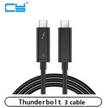 1m 2m 0,5 m 0,3 m 30cm 50cm 100cm Thunderbolt 3 USB-C USB3.1 Männlichen zu thunderbolt3 Männlichen 40Gbps Kabel für PC Laptop