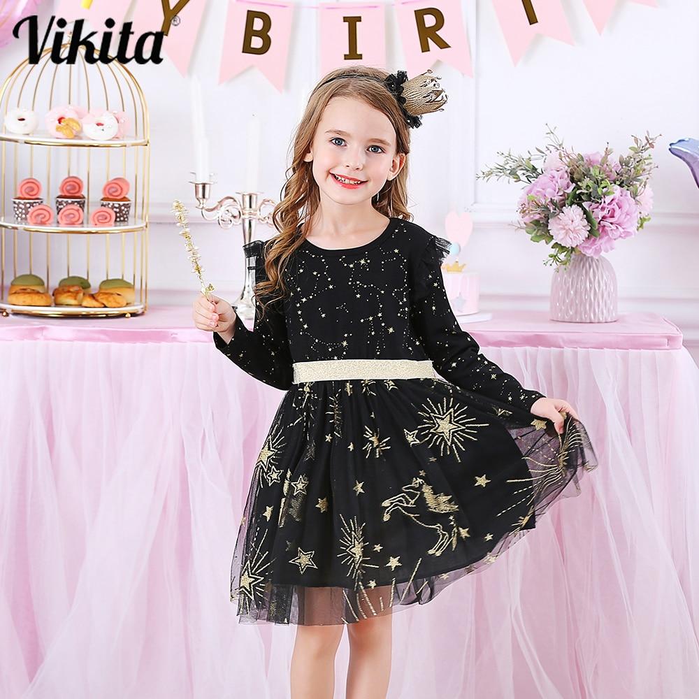 AliExpress - VIKITA Kids Party Dress for Girl Children Sequined Dresses Girls Star Dress Toddlers Casual Dresses Children Autumn Costumes