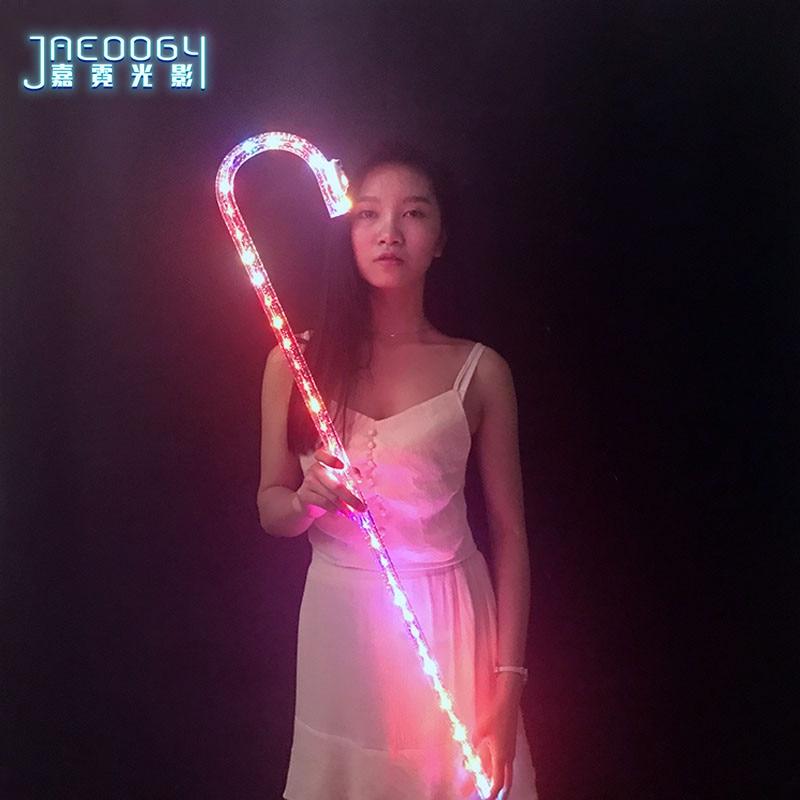 ¡Novedad de 2019! iluminación LED de baile de alta calidad, muletas, equipo de baile de jazz, accesorios fluorescentes, conciertos, bares, discotecas, coloridos
