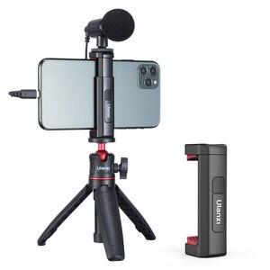 Ulanzi ST-19 смартфон Vlog со штативным креплением для iPhone 12 Pro Max 11 Холодный башмак для микрофон со светодиодной подсветкой Vlog крепление