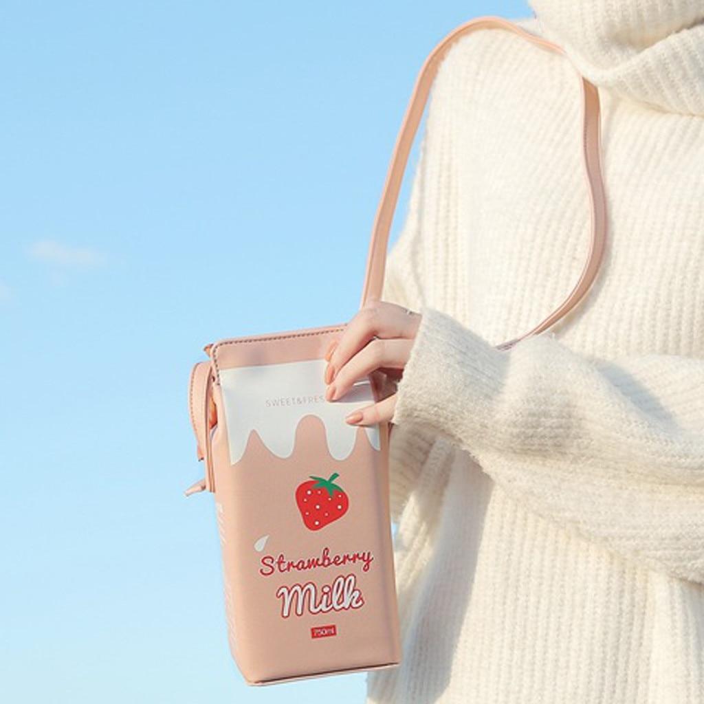 Bolsas creativas con forma de botella para mujer, bolsos cruzados para mujer, pequeña bolsa de mensajero, leche Friut Diagonal, bolsos de hombro para teléfono # T1G