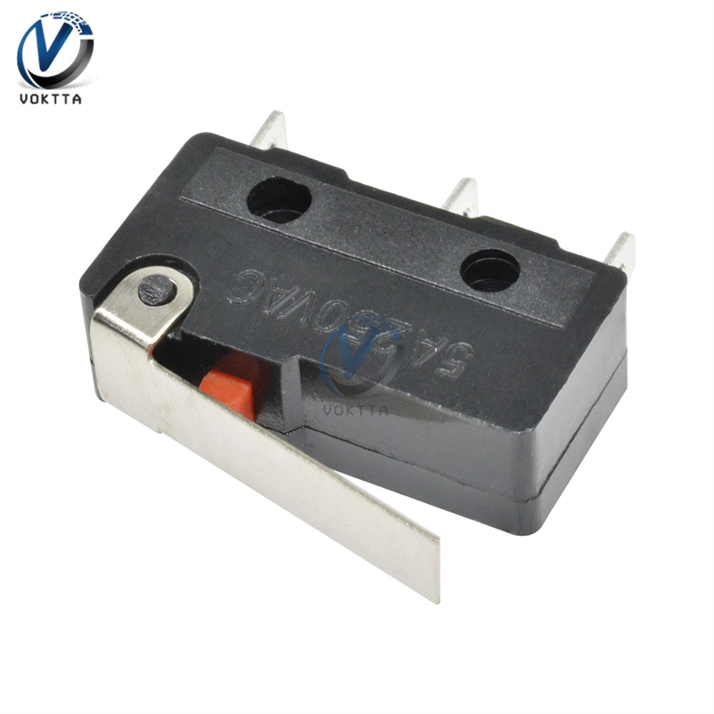 1 piezas KW11-3Z tacto interruptor 250V 5A AC 3 Pin microinterruptor mango...