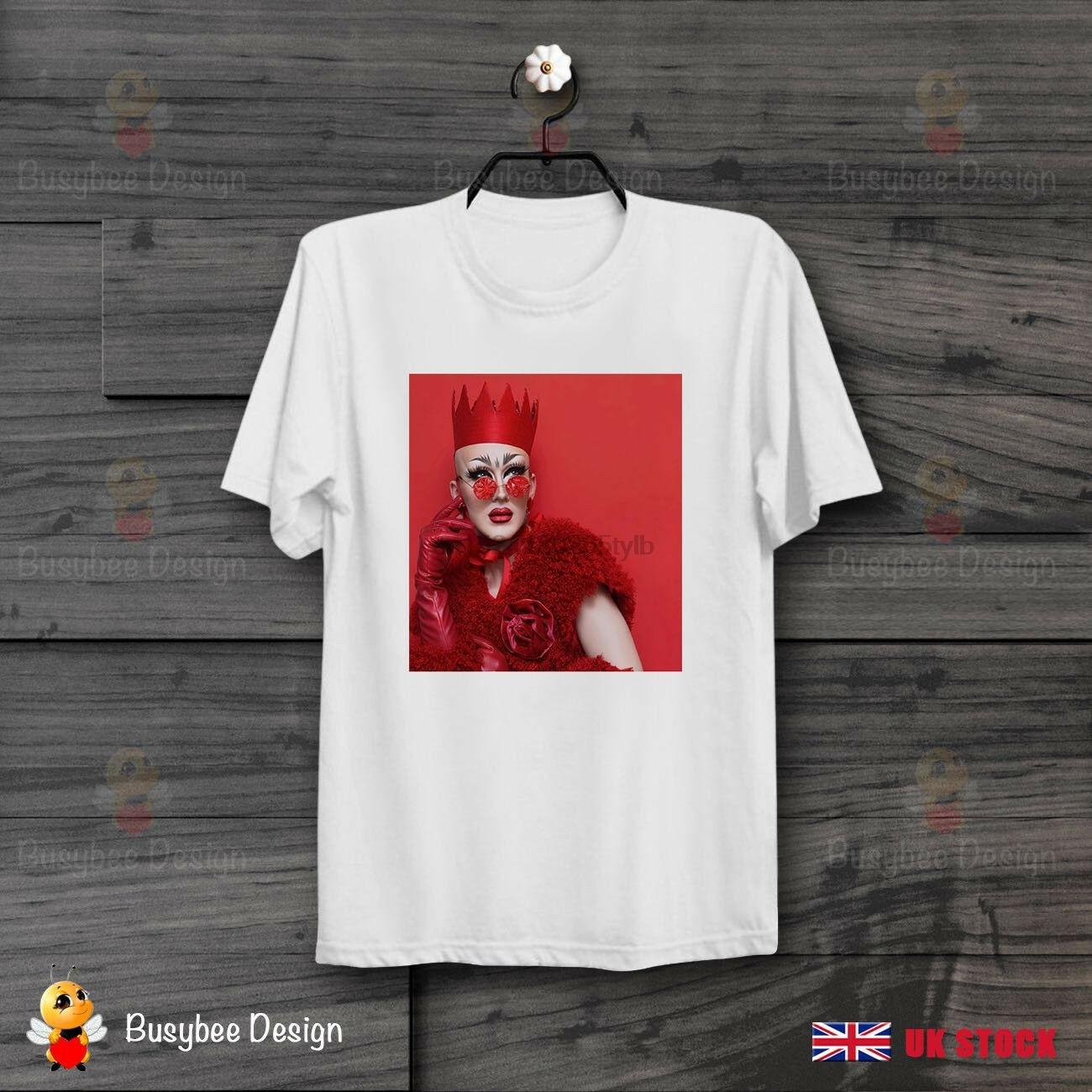 De terciopelo camiseta de Reina Sasha Orgullo Gay LGBT Soho bien Unisex T camisa B479