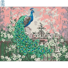 Serie Peacock. Pintura hecha a mano lienzo de alta calidad hermosa pintura por números regalo sorpresa gran éxito