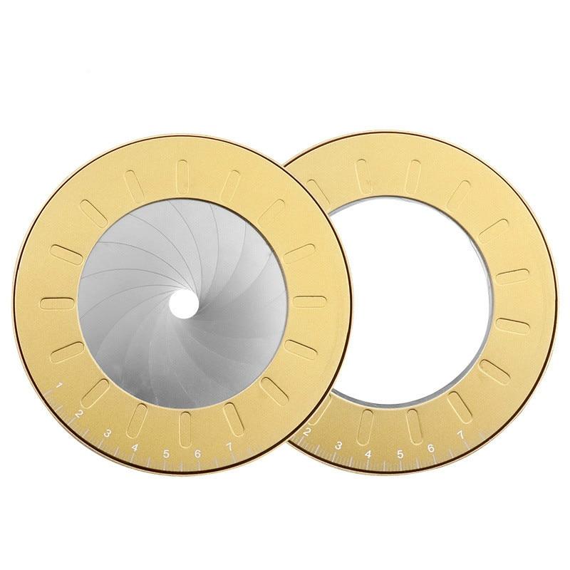 Regla Circular de dibujo, regla de medición precisa de acero inoxidable, herramienta de cocción redonda ajustable, artículos de papelería giratorios de fiesta