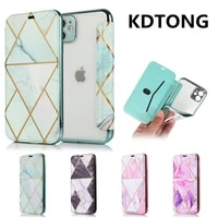 phone case for iphone 12 11 pro max xr x xs se 2020 7 8 plus geometric marble flip leather cover card holder shockproof fundas
