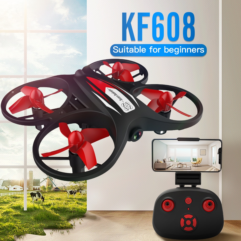 KF608 Mini Drone Camera For Kids 8mins Flight Time Altitude Hold Headless Mode 2.4G Mini RC Quadcopter Helicopter Toys VS E016H enlarge