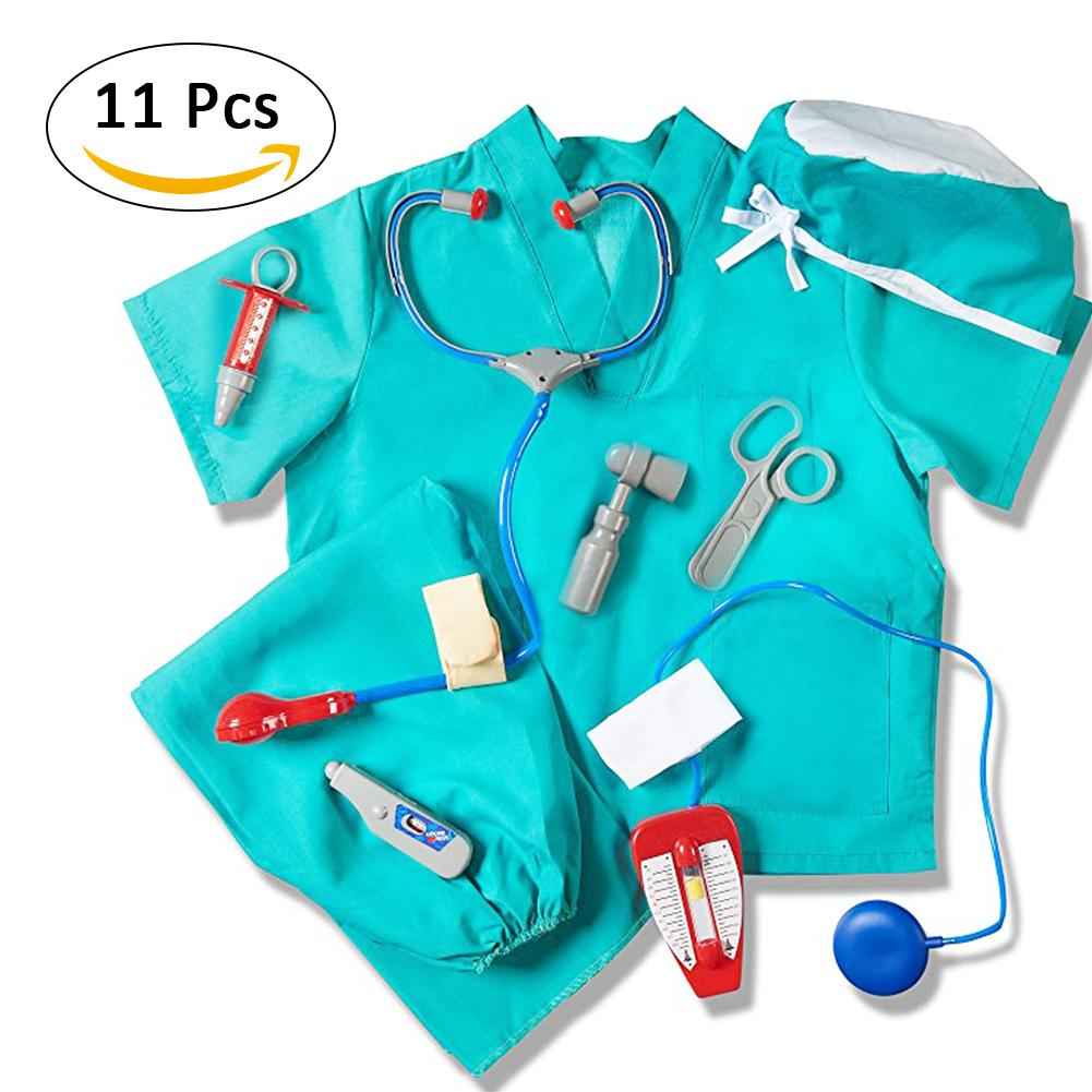 Doctor Clothes Pretend Play Costume Professional Doctor Assembly Decoration Doctor Play Props Children Play House Role Play Toys play