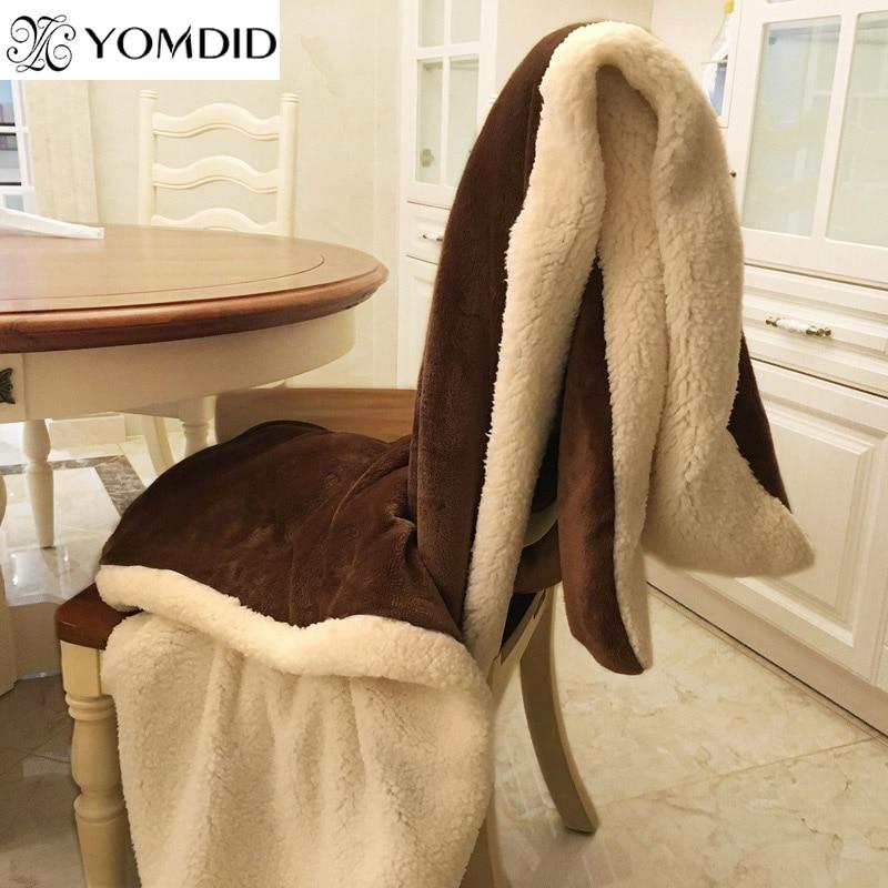YOMDID Winter Wool Blanket Ferret Cashmere Blanket Warm Blankets Fleece Super Warm Soft Throw On Sofa Bed Cover Square Cobija