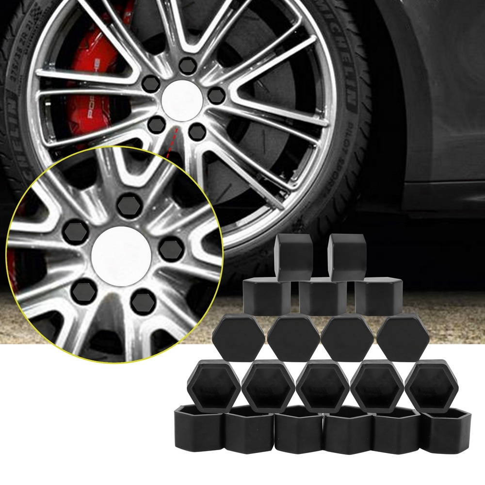 20 шт. Силиконовые колеса автомобиля винт ступицы крышки для Abarth Fiat 500 BMW E60 E36 E34