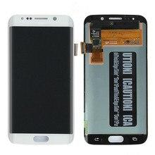 LCD AMOLED ORIGINAL para SAMSUNG Galaxy s6 edge G925 G925F pantalla táctil pantalla digitalizadora con línea