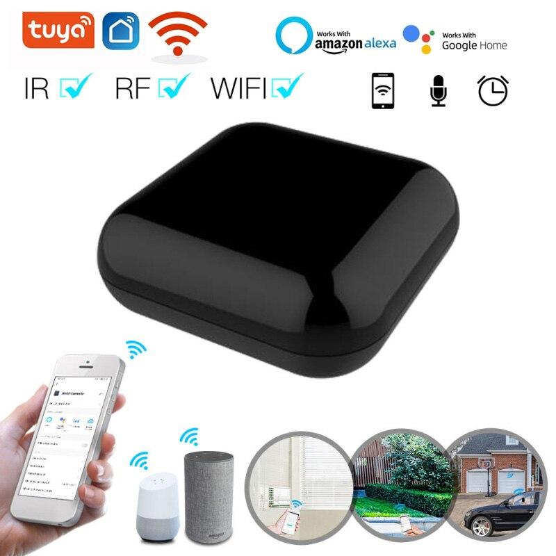 Tuya واي فاي + RF + IR الذكية التحكم عن بعد أجهزة RF التحكم التحكم الصوتي العمل عبر أليكسا جوجل المنزل الذكي الحياة App المنزل الذكي