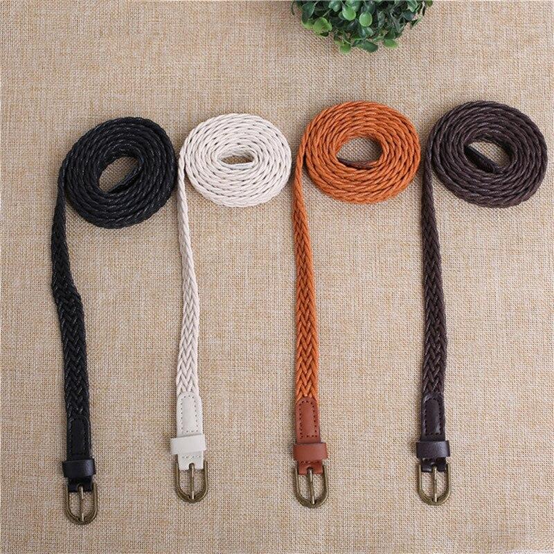 ¡Novedad! Cinturón de cáñamo tejido en colores caramelo para mujer, Cinturón trenzado de cuerda, cinturón femenino para vestido, cinturón salvaje de alta calidad para mujer