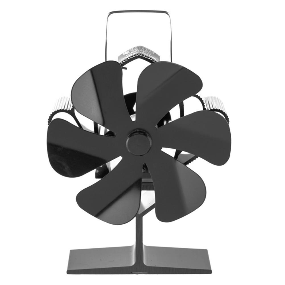 6 المروحة موقد مروحة صامتة كفاءة توزيع الحرارة مروحة الحائط أنبوب حديد التوأم الموقد مروحة مع المشبك لتسجيل الموقد