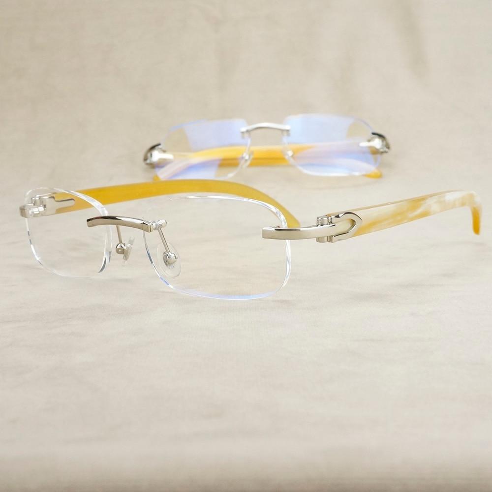 Gafas transparentes Vintage para hombre, gafas de lujo para mujer, gafas transparentes para leer, gafas de lectura Retro con lector Carter para prescripción de Nerd