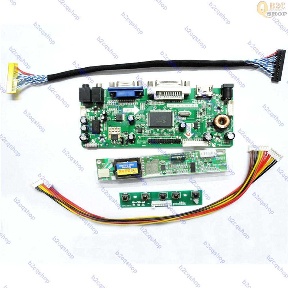 "NT68676(HDMI + DVI + VGA)LCD Placa de controlador Kit de placa controladora para 15,6 pulgadas 15,6 ""B156XW01 V.2 V2 1366X768 panel de pantalla"