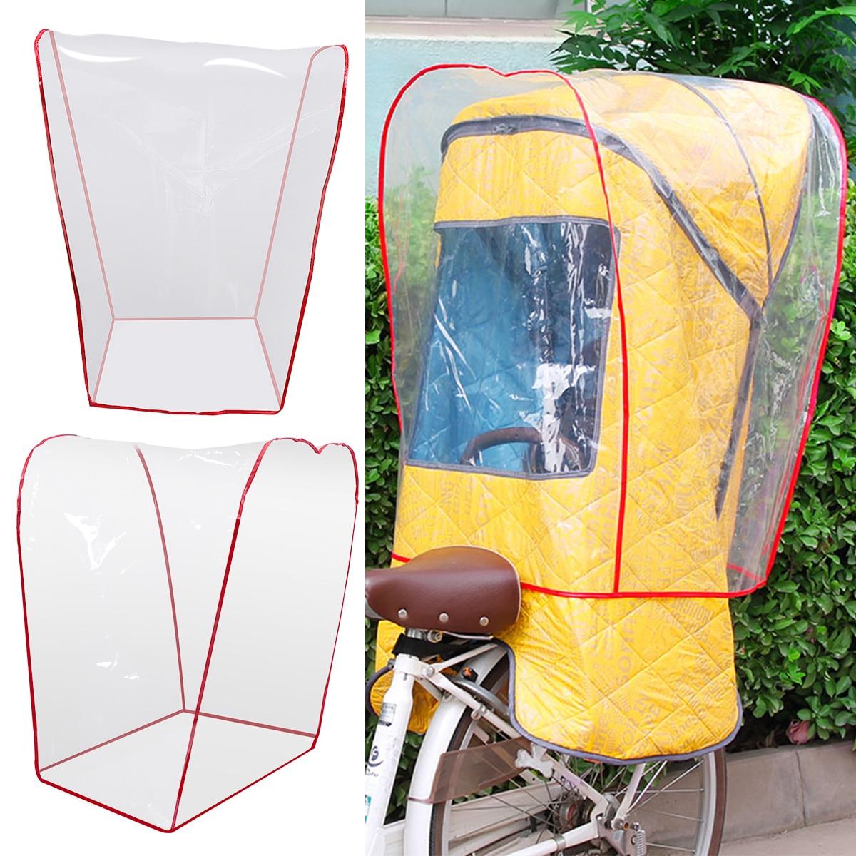 Transparente Capa de Chuva Capa de Chuva Protetor de Vento À Prova D Água Sombra para o Assento Da Bicicleta Da Criança