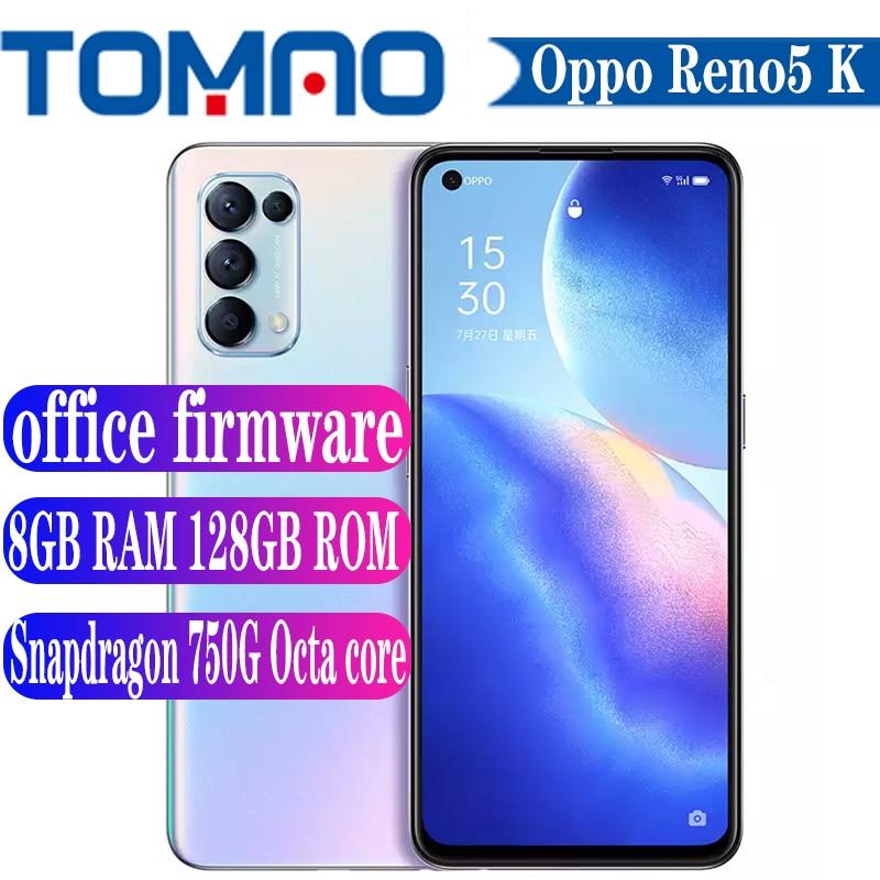 "Original Offizielle Neue oppo Reno5 K 5G SmartPhone 90Hz Octa core Snapdragon 750G 4300mAh 65W batterie 6.43 ""64MP Kamera Android11"