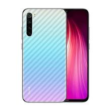 "3 unids/lote ultrafino transparente delgado de pegatinas de fibra de carbono para Xiaomi Redmi Nota 8T 6,3 ""Anti-Protector de arañazos película posterior"