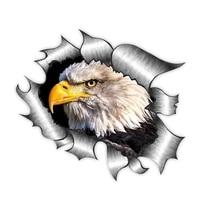 beautiful car sticker 3d american bald eagle animal decal car window accessories car styling pvc 13cm x 13cm