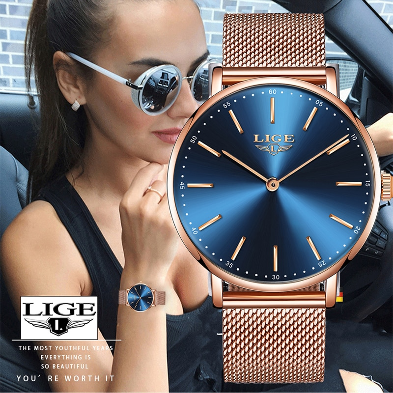 LIGE Women Watch Mens Watches Top Brand Luxury Zegarek Damski Watch Women Watch Men Montre Femme Montre Homme Reloj Hombre+Box enlarge