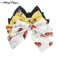 cherry flower barrette floral hairgrips large bow hairpin for women girls ladies hair clips korean new fashion hair accessories