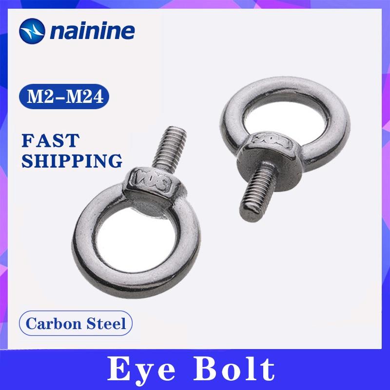 Din580 [M3-M24] olho parafuso 304 aço inoxidável marinha levantamento olho parafusos anel loop buraco para cabo corda olho parafuso a011