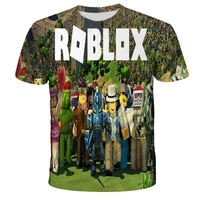3d printed kid robloxing child for o neck tee casual t shirt boys girls game sport children anime cute clothing