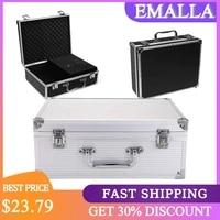 emalla professional tattoo machine kit carry case with lock light weight alloy box tattoo supplies storage box tattoo kit case