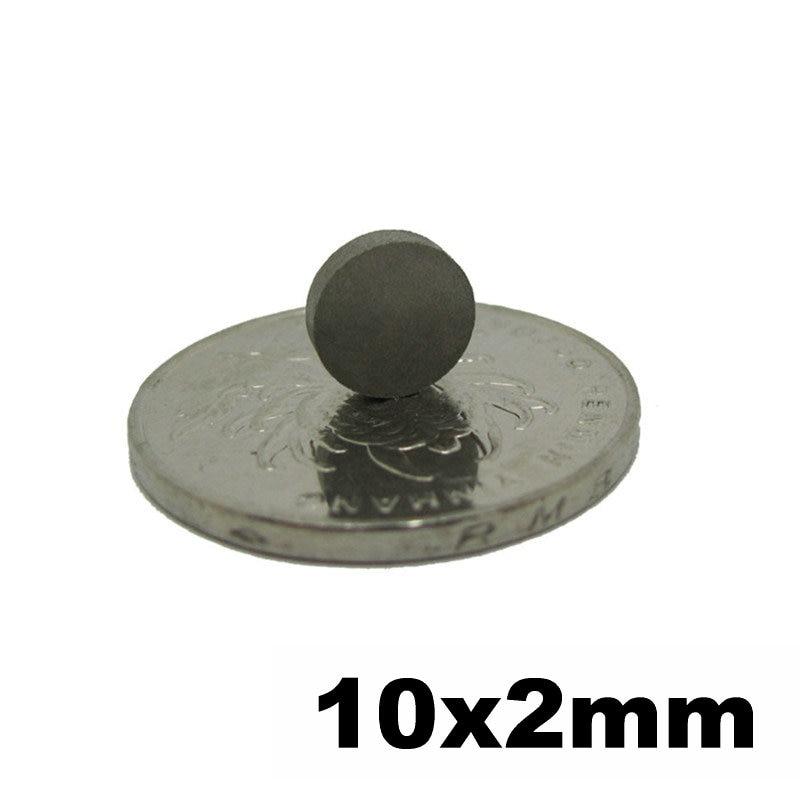 سمكو مغناطيس رقيقة قطر القرص ديا. 10x2 ملليمتر الصف YXG28H 350 درجة مئوية ارتفاع درجة الحرارة دائم مغناطيس الأرض النادرة 50 قطعة