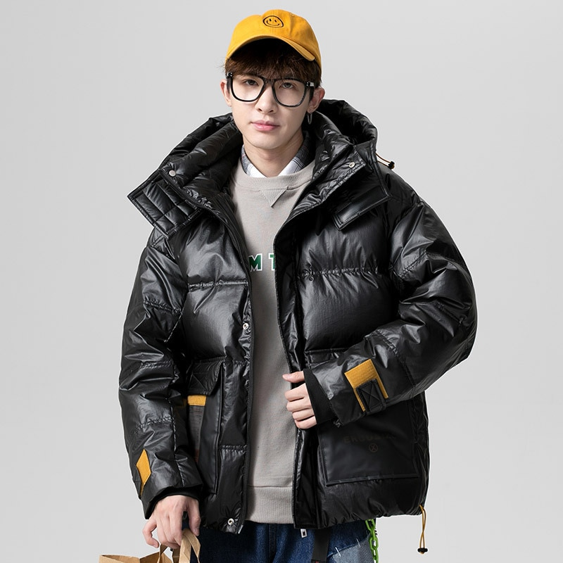 Winter Jacket Men Thick 2021 Hooded Warm Cotton Overcoats Mens Patchwork Parka and Coats Windbreaker Parkas Male Overcoats 4XL