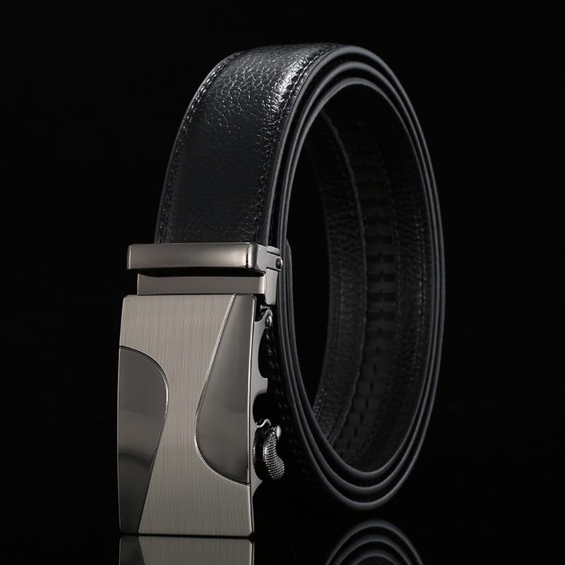 PU faux Leather ratchet belt Mens fabric Automatic Buckle Fashion Belts For Men Business Popular Male Brand Black Belts Luxury