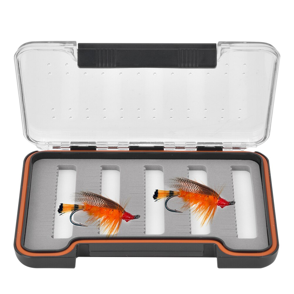1.5cm ultra-mince Transparent mouche leurre boîte magnétique appât mallette de rangement conteneur organiser des pièces de pêche pêche matériel boîtes