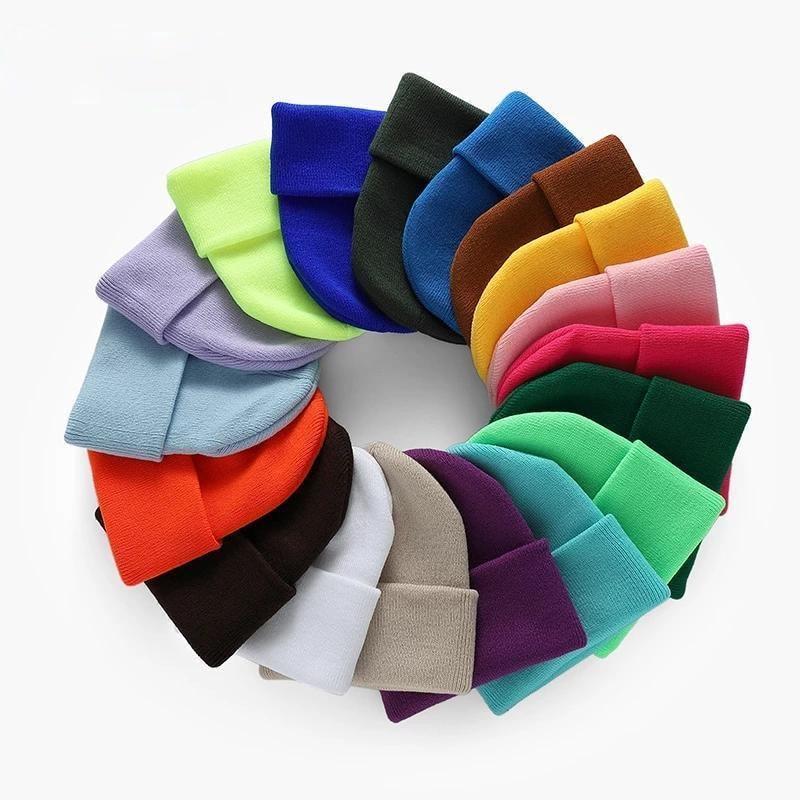 Модные однотонные вязаные облегающие шапки, зимние теплые лыжные шапки, мужские и женские разноцветные шапки, мягкие эластичные шапки, спор...