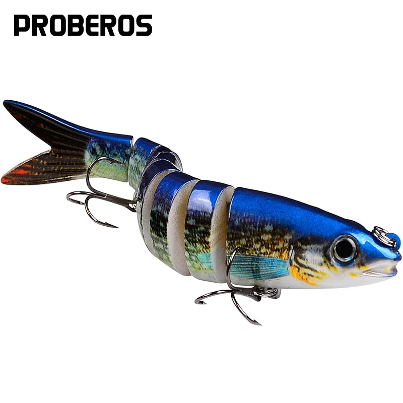 1PC 8 Sections Fishing Lure 13.5cm/19g 10cm/15.5g Jointed Swimbait Trout Bass Bait 6# Hook Fishing Tackle Peche Pesca