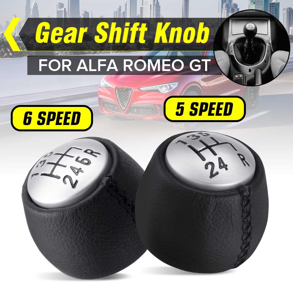 Quente novo 5 6 velocidade mt alavanca do deslocamento de engrenagem do carro shifter mão bola couro do plutônio para alfa/romeo gt 147 166