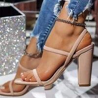 sandals women 2021 zar luxury brand fashion high heel big size square toe serpentine femme shoes black sandalias de las mujeres