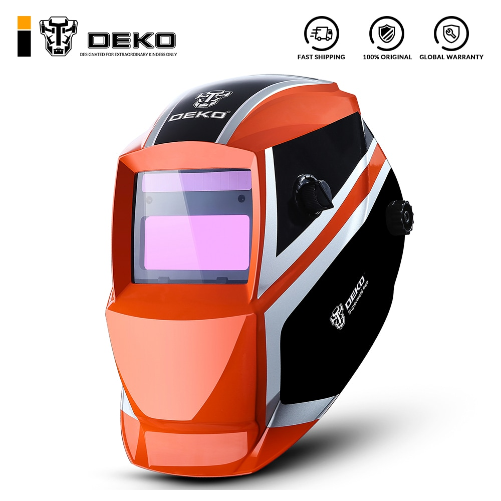 DEKO Orange Mega Solar Auto Darkening  MIG MMA Electric Welding Mask/Helmet/Welding Lens for Welding Machine or Plasma Cutter