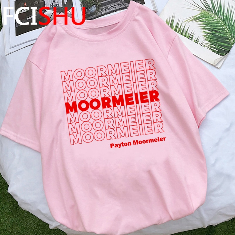 Payton Moormeier Merch divertida camiseta hombres Moormeier repetir gráfico camiseta ropa informal estilo Hip Hop Unisex camiseta de moda Top Tees Masculino