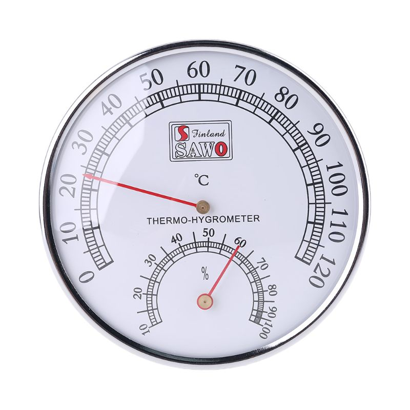 Sauna Thermometer metal Case Steam Sauna Room Thermometer Hygrometer Bath And Sauna Indoor Outdoor Used A69D