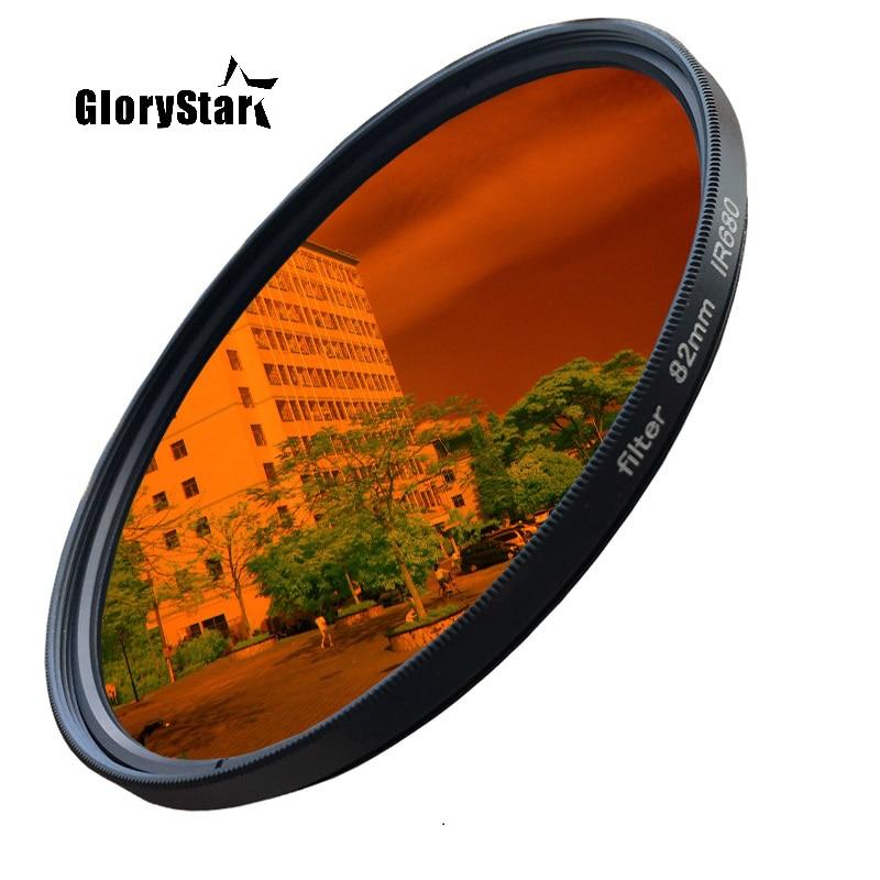 GloryStar 52-82 مللي متر Ir680 Ir720 Ir760 Ir850 Ir950 الأشعة تحت الحمراء Ir تصفية 720nm متعة التصوير الفني الكاميرا عدسة تصفية