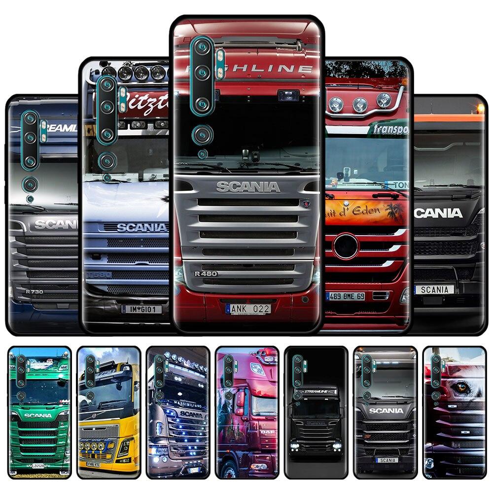 Camión SCANIA patrón funda de teléfono para Xiaomi Mi 10 9T 8 9 A1 A2 A3 CC9 CC9E Nota 10 Lite Poco X2 F2 M2 Pro F1 funda trasera de TPU Couqe